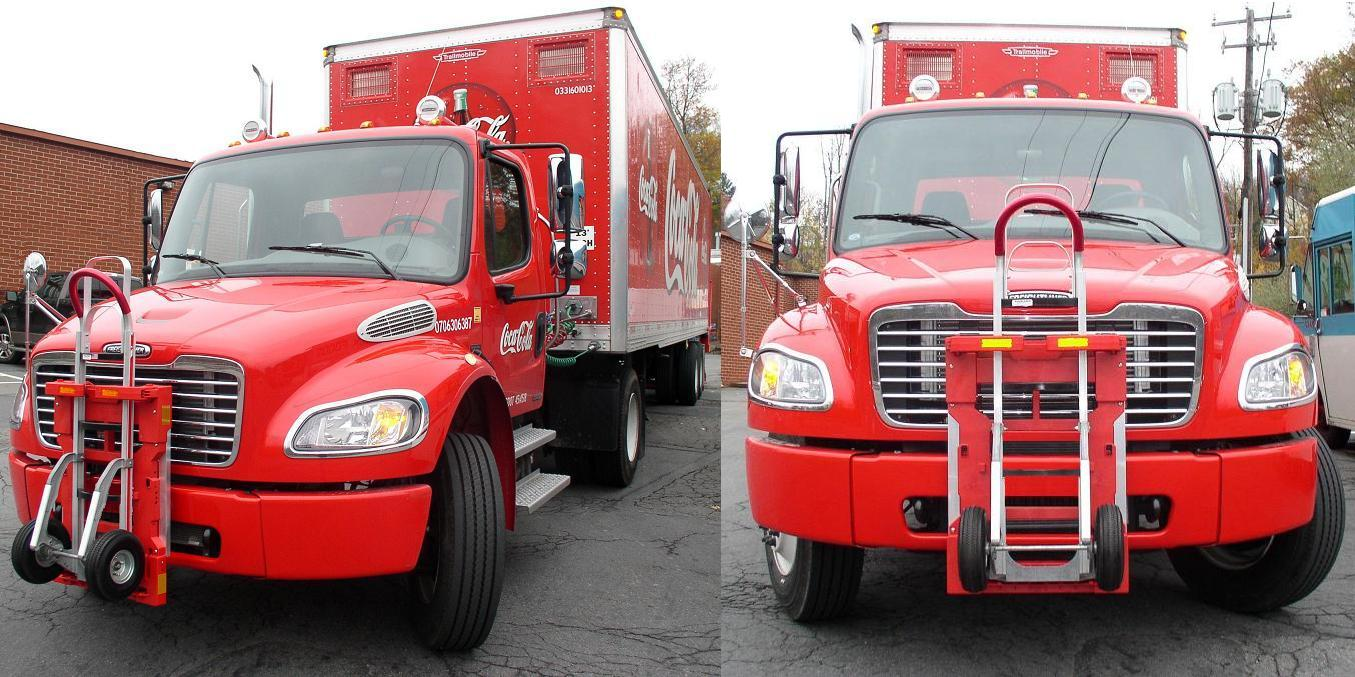 Coca Cola - Freightliner M2 tractor - Soda Truck - HTS Ultra-Rack HTS-10TR locking Magliner hand truck