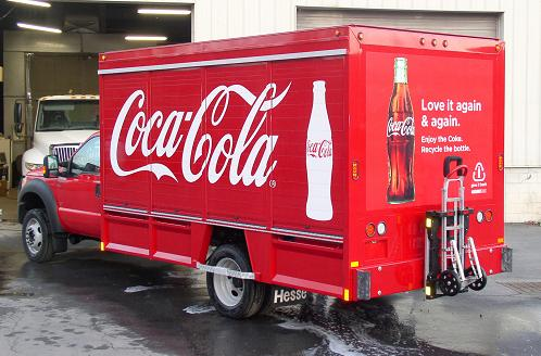 Coca-Cola truck with HTS-30D Ultra-Rack