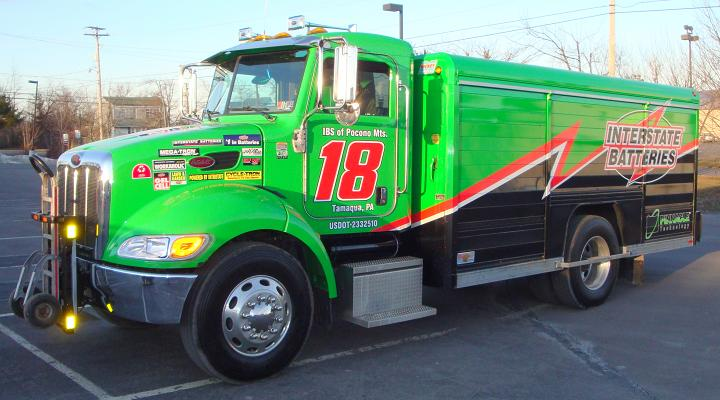 Peterbilt 335 Interstate Batteries truck