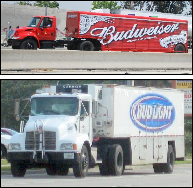 Navistar Budweiser  Kenworth T600 Bud Light