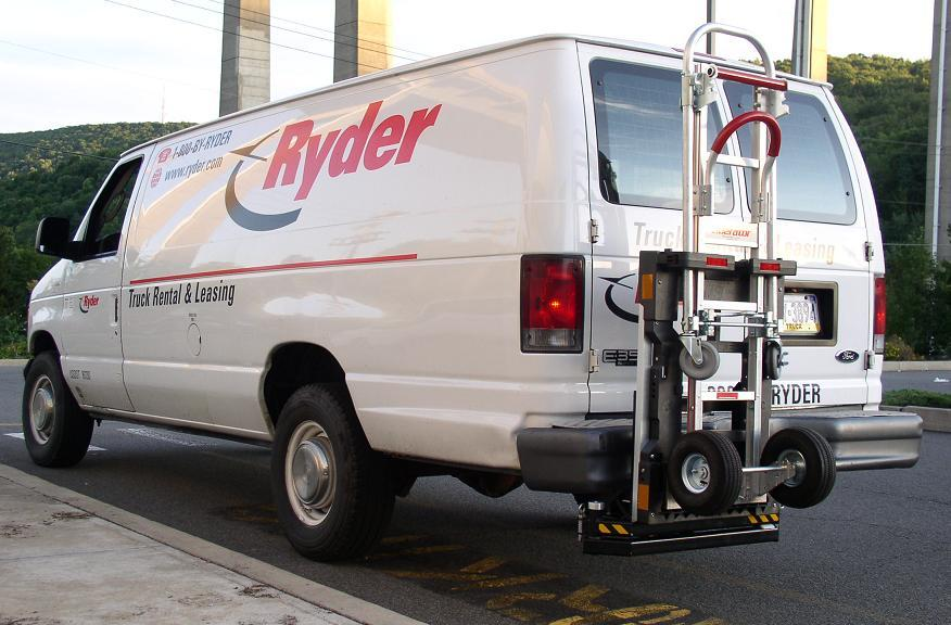 Ryder Ford E350 delivery van - HTS-20 Ultra-Rack