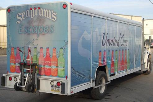 Seagram's Escapes beverage truck - B&P Liberator