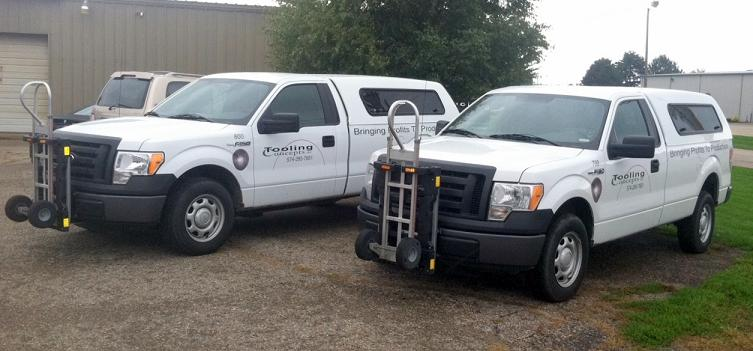 Ford F150 pickup trucks w/ HTS-10T Ultra-Racks