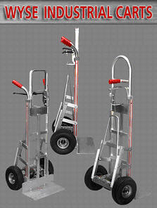 Wyse Industrial Carts - Wyse Patented Brake Hand Trucks