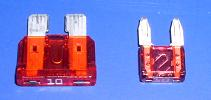 ATO Standard and ATM Mini automotive fuses