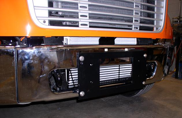HTS Adapter Plate on M2 Freightliner bumper